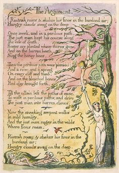 The Argument, from The Marriage of Heaven and Hell, William Blake, from Art Gallery, John Mitchell - New Classical Music. William Blake Poems, Auguries Of Innocence, Collages, Ap Literature, Project Life Scrapbook, English Poets, Heaven And Hell, Romanticism, Archetypes