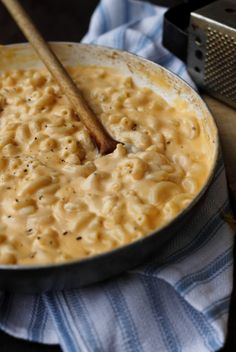 three cheese stovetop macaroni and cheese- Ultimate comfort food in a smooth, creamy stovetop version.