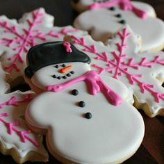 #Snowman Sugar #Cookies #christmasrecipes