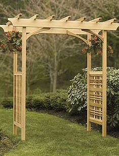 wood wedding arches pictures | Backyard wedding wood arbor arch | Wedding