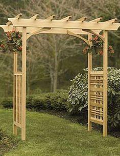 wood wedding arches pictures | Backyard wedding wood arbor arch | Wedding