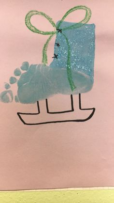 Arts And Crafts Cabinet Baby Footprint Crafts, Baby Crafts, Toddler Crafts, Crafts To Do, Infant Crafts, January Art, January Crafts, December, Daycare Crafts