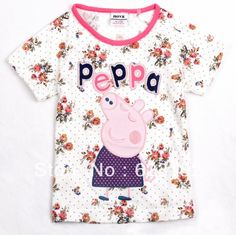 Aliexpress.com : Buy Free shipping K4075# Peppa Pig Child Girls Tunic Top Short Sleeve Tees for Kids 2013 Children Cotton Wear from Reliable Peppa Pig T-shirt