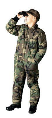 874f392f2e0f4c Rothco Boy's Insulated Coverall Camo - Small Military Camouflage, Military  Gear, Military Jacket,