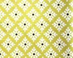 Michael Miller Cotton Fabric Lime Green Snowflake