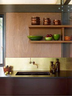 VOLA Taps for Kitchen in Brass