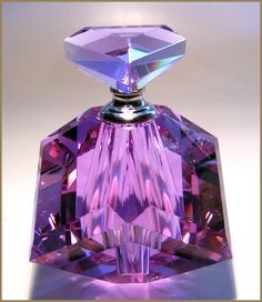 purple crystal perfume bottle