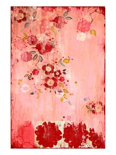 "Kathe Fraga Art, www.kathefraga.com ""Kaleena"", inspired by the romance of vintage French wallpapers and Chinoiserie with a modern twist. 36x24 on frescoed canvas."