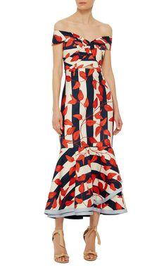 M'O Exclusive Victoria Island Midi Dress by JOHANNA ORTIZ Now Available on Moda Operandi