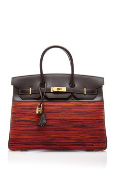 Hermes 35Cm Ebene Calf Box And Vibrato Leather Birkin by Heritage Auctions Special Collection for Preorder on Moda Operandi