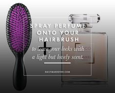 20 Life Hacks for Your Beauty Routine - Perfume Hair Tutorial