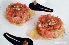 Tartar de tomate con tomillo y nueces