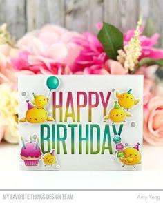 Stamps: Birthday Chicks Die-namics: Birthday Chicks, Big Birthday Amy Yang #mftstamps