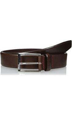 HUGO Hugo Boss Men's Belt C-Gerron-N, Brown, 38 ❤ Hugo Boss Men's Belts and Wallets