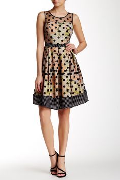 Mesh Overlay Fit & Flare Dress by RYU on @nordstrom_rack