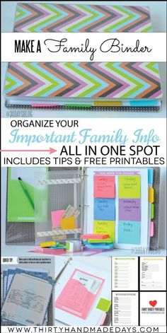 Reusable binder pages
