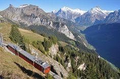 Schynige Plattebahn view towards Grindelwald