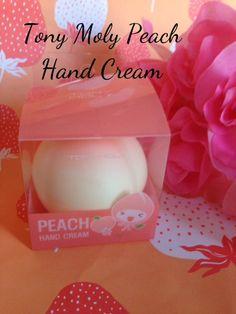 Tony-Moly-Peach-Anti-Aging-Hand-Cream-package, skincare, Korean skincare, skincare with cute packaging via neversaydiebeauty.com