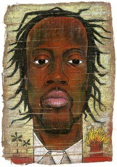 Edel Rodriguez's Illustration of Wyclef Jean.