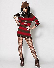 Superior Adult Burned Sweater Freddy Costume   Nightmare On Elm Street   Spenceru0027s