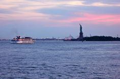 Statue of Liberty at Sunset on the Circle Line Cruise | NYC Photo Gallery- Going Green In New York City  www.greenglobaltravel.com