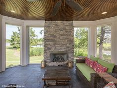 sunroom -- The Hartwell Home Plan # W-PIN-1221 (Donald A. Gardner Architects)