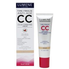 """Lumene Time Freeze Anti-Age Color Correcting CC Cream, this summer's surprise favorite (the only non-Asian BB I've ever liked!) Too bad """"light"""" will be too dark for me in about a month :( Best Night Cream, Best Eye Cream, Makeup To Buy, How To Apply Makeup, Best Anti Aging, Anti Aging Cream, Cc Cream Review, Best Foundation, Beauty Box"""