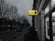 Urban yellow @Amsterdam #urban_yellow #yellow_sign #urbanism #city_centre #yellow #greyscale #Amsterdam #Geldersekade91 #Binnen_Bantammerstraat #bike #blackandwhitephoto #urban_photography #travel #light
