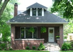 bungalow... I love this, such a cute and solid starter home- someday :)