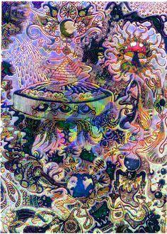 psychedelic-psychiatrist: Fractilatedwormhole's Suacer + by ~Valpigle Hippie Trippy, Hippie Art, Kunst Inspo, Art Inspo, Art And Illustration, Trippy Drawings, Art Drawings, Psychadelic Art, Acid Art
