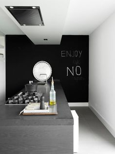 Black white and grey kitchen
