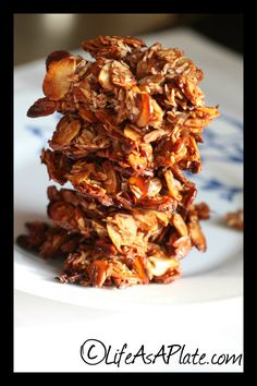 Paleo Almond Clusters use sf honey and skip raisins
