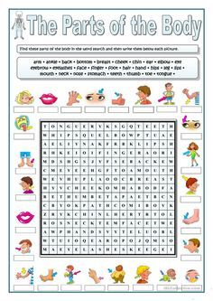 PARTS OF THE BODY- WORDSEARCH