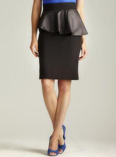 Paniz Faux Leather Peplum Skirt