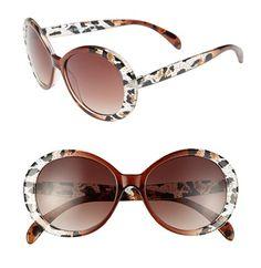 animal print oval sunglasses