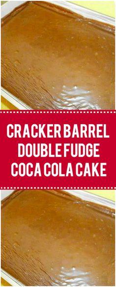 cracker barrel pancake Ingredients 1 cup coca-cola 1 stick margarine cup oil 3 tablespoons cocoa powder 2 cups sugar 2 cups all-purpose flour teaspoon salt 2 eggs cup buttermilk 1 teaspoon baking soda 1 teaspoon Easy Cake Recipes, Sweet Recipes, Dessert Recipes, Coke Cola Cake, Cracker Barrel Copycat Recipes, Cracker Barrel Pancakes, Cola Recipe, Cocoa Cola, Homemade Crackers
