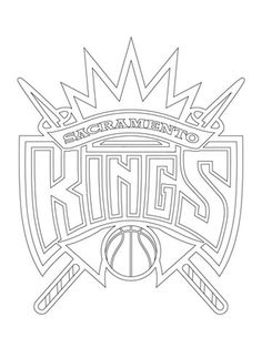 Sacramento Kings logo NBA coloring pages Cross Coloring Page, Puppy Coloring Pages, Sports Coloring Pages, Boy Coloring, Free Coloring Sheets, Coloring Pages For Boys, Coloring Pages To Print, Free Printable Coloring Pages, Golden State Warriors Colors