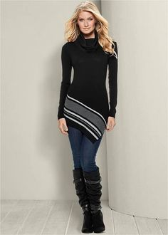 dark striped cardigan women
