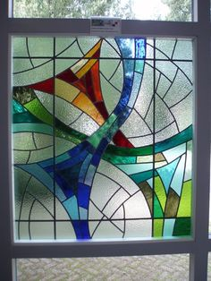 Modern Stained Glass, Faux Stained Glass, Stained Glass Designs, Stained Glass Panels, Stained Glass Projects, Fused Glass Art, Stained Glass Patterns, Leaded Glass, Mosaic Glass