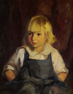 """""""Boy in Blue Overalls,"""" Robert Henri, 1921, oil on canvas, 24 x 20"""", private collection."""