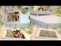 glitter home decor   DIY Vanity/Perfume Tray   Chevron Glitter Home Decor
