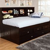Bookcase Daybed With 3 Drawers And Trundle