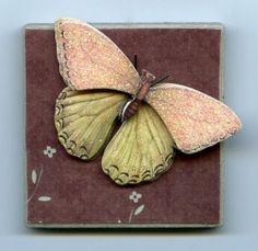 """This Butterfly Comes Alive on 2"""" x 2"""" Ceramic Tile Magnet Wall Art ..."""