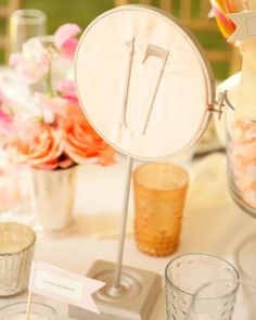Fabric Table Card/Classic Wedding Table Cards - Martha Stewart Weddings Inspiration