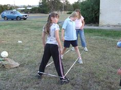 In Hawaii, we called this Chinese Jump Rope. Remember this game? Playing Elastics at school playtime in the