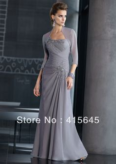 2013 Collection V neck Short Sleeves Beaded Ruffle A line Long Mother of the Bride Dresses Gowns-in Mother of the Bride Dresses from Apparel  Accessories on Aliexpress.com $123.00