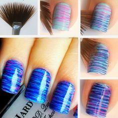 Striped shellac