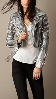 The Best Luxury Brands, Clothing, Accessories , You Can Buy Online Right Now Look Fashion, High Fashion, Fashion Outfits, Womens Fashion, Fashion Trends, Fashion 2018, Lady Like, Studded Leather Jacket, Biker Chic