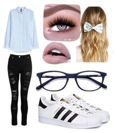 """""""😵"""" by stefanie-ege on Polyvore featuring Dorothy Perkins, adidas and Forever 21"""
