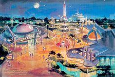 Concept sketch for Tomorrowland at Hong Kong Disneyland. <3!! I LOVE Tomorrowland!!!!